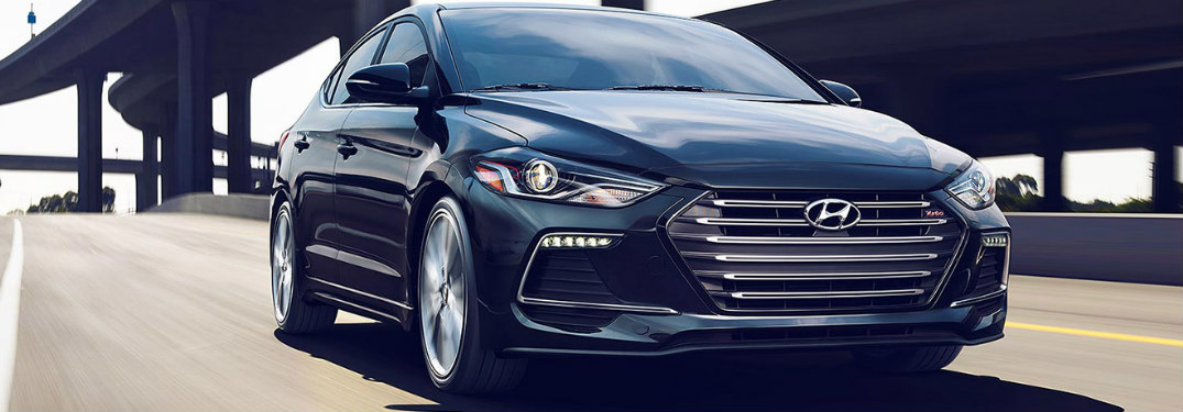 2018 Hyundai Elantra driving down road
