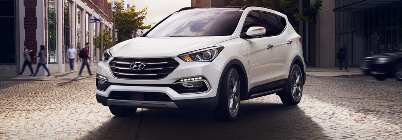 2018 Hyundai Santa Fe Sport exterior front white