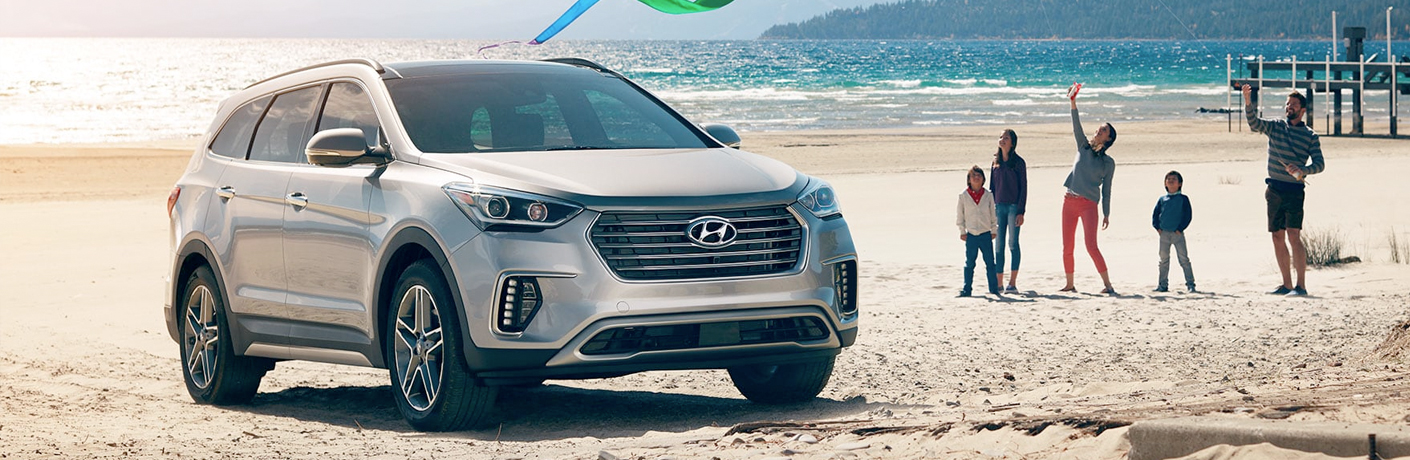hyundai santa fe xl on the beach