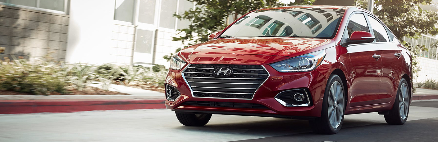 2019 Hyundai Accent on a road