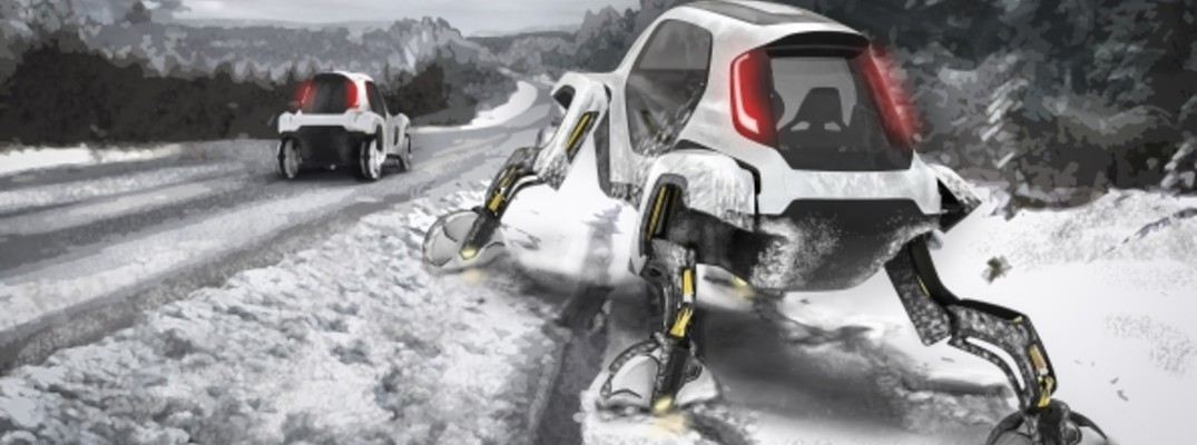 hyundai elevate concept vehicle in snow