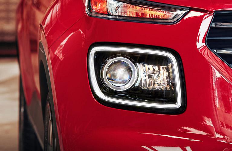 headlight closeup on a 2020 Hyundai Venue