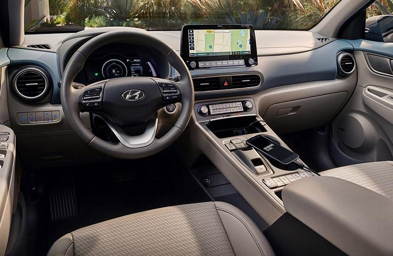 interior of the 2020 Hyundai Kona Electric