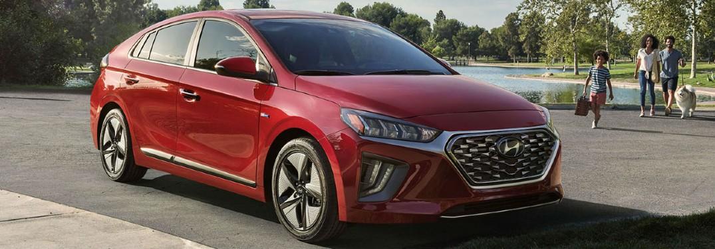 red 2020 Hyundai Ioniq Hybrid front view