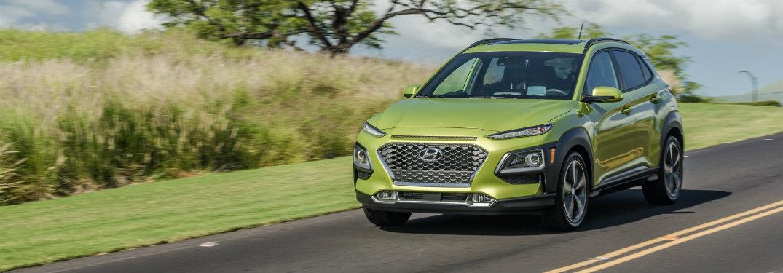 2018 Hyundai Kona exterior front driving on road