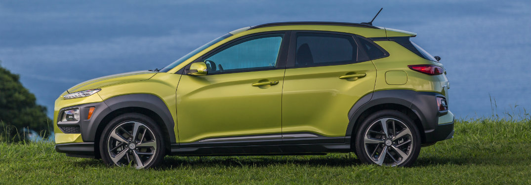 2018 Hyundai Kona exterior side parked by water