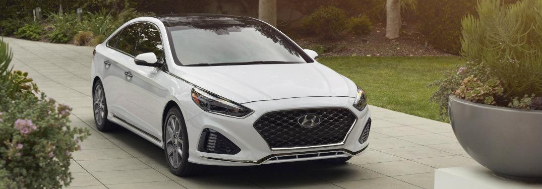 2018 Hyundai Sonata parked in driveway