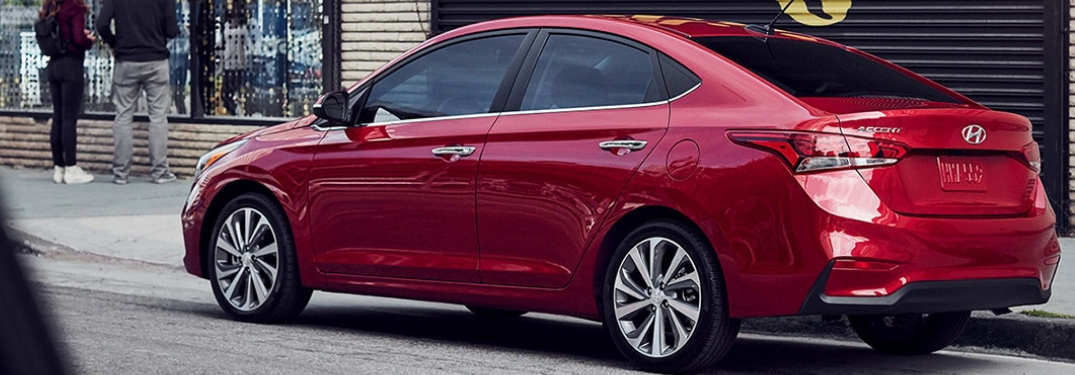 2019 hyundai accent rear view parked