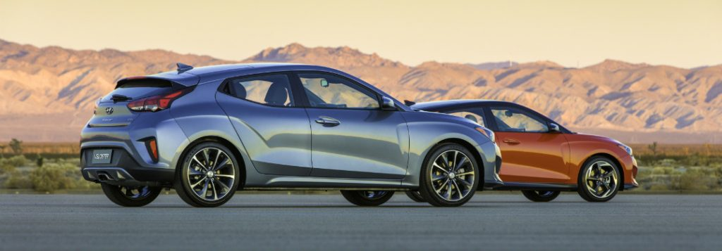 2019 hyundai veloster and veloster turbo side by side
