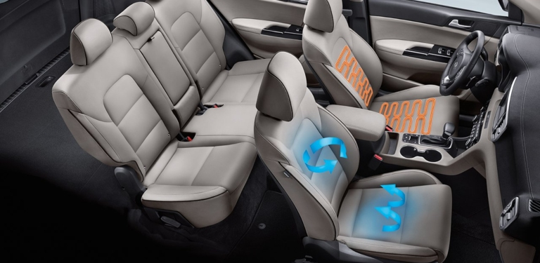2018 Kia Sportage with heated and cooled seats