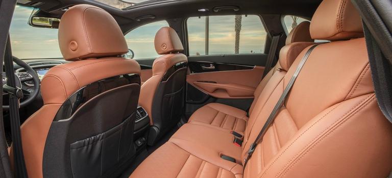 2019 Kia Sorento SX Limited back seat with Terracotta Nappa leather