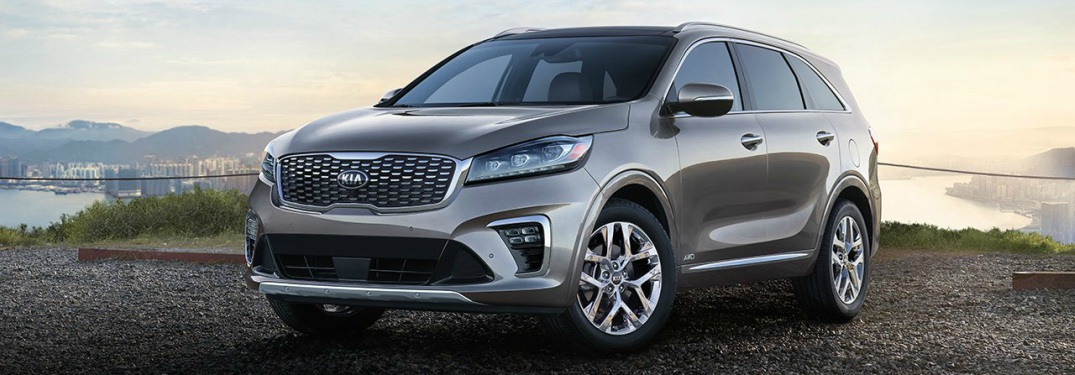 Exterior and interior color options on the 2019 Sorento