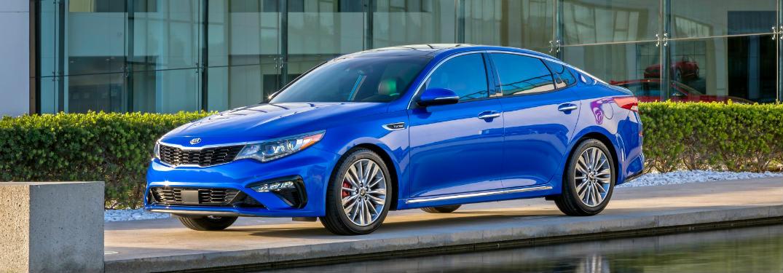 2019 Kia Optima exterior side blue