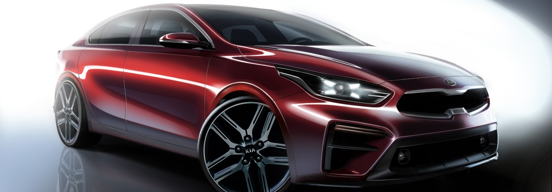 2019 Kia Forte red concept drawing