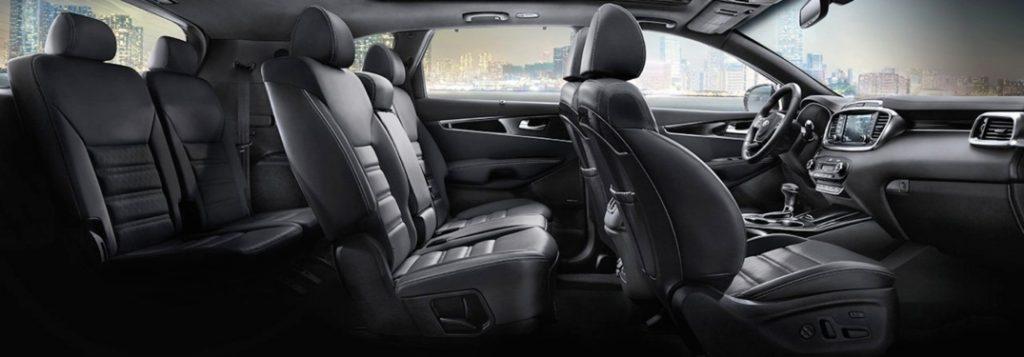 Seating capacity of the 2019 Kia Sorento