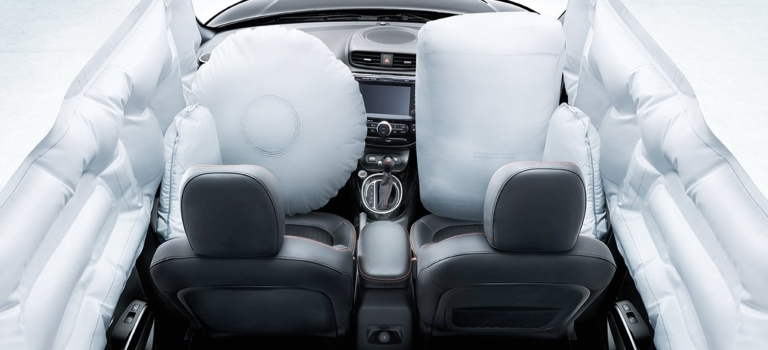 2019 Kia Soul with airbags deployed