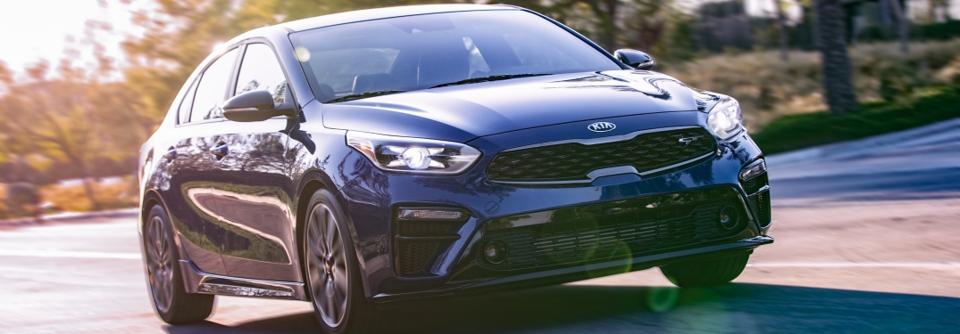 2020 Kia Forte GT blue front view