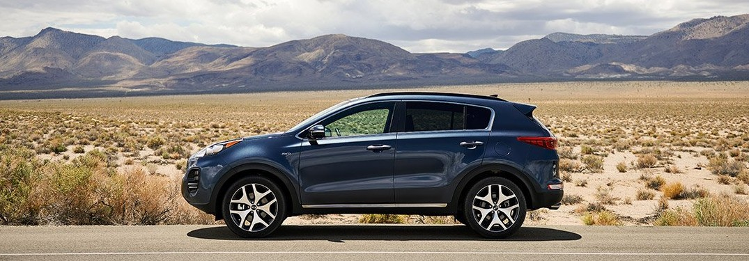 2019 Kia Sportage blue side view