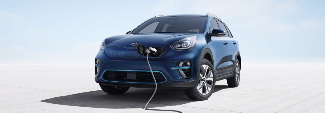2019 Kia Niro EV blue front view charging