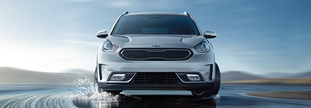 2019 Kia Niro silver front view in water
