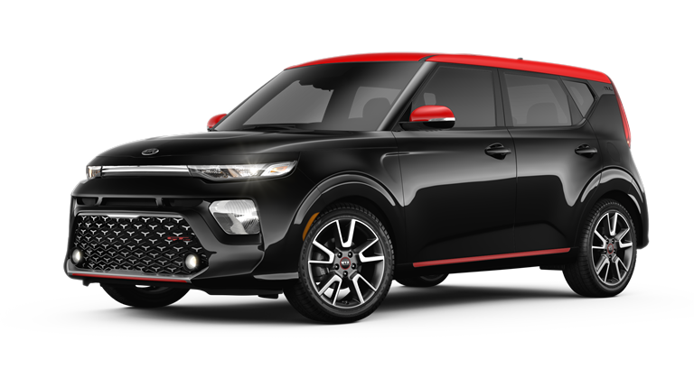 2020 Kia Soul Cherry Black and Inferno Red two-tone side view
