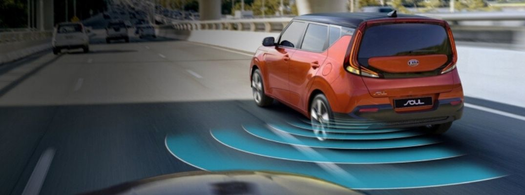 Visual Representation of the Kia Drive Wise Blind-Spot Driver Assistance Features