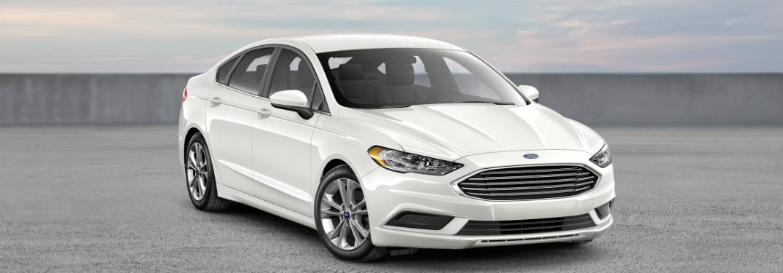 2018 Ford Fusion at an angle