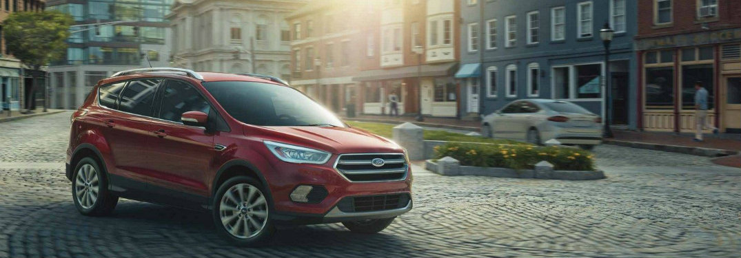 2018 Ford Escape parked in a town plaza