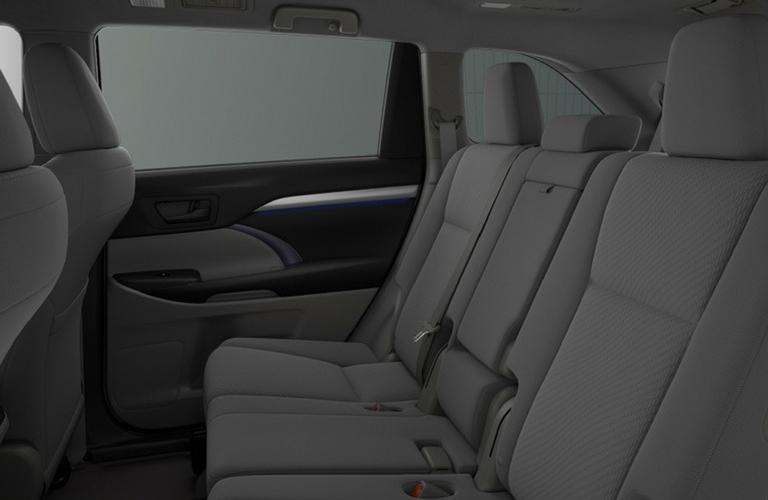 2018 Toyota Highlander seat view side.