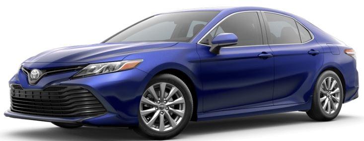 2018 Toyota Camry Blue Crush Metallic