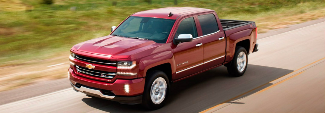 2017 Chevrolet Silverado driving on road