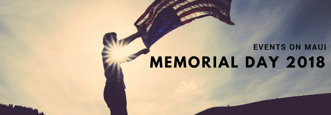 person-waving-American-flag-with-Memorial-Day-2018-events-on-Maui-title