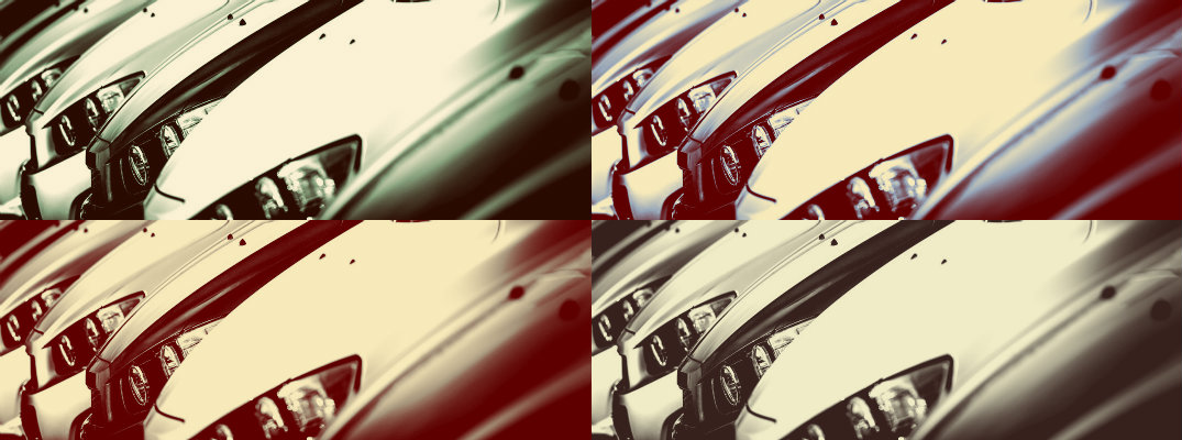 4-image collage of used cars