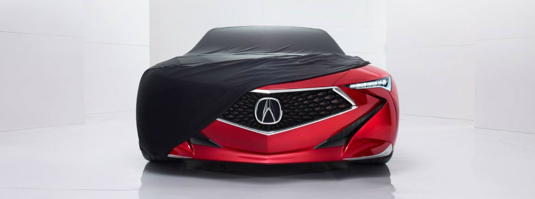 acura precision concept model on white background