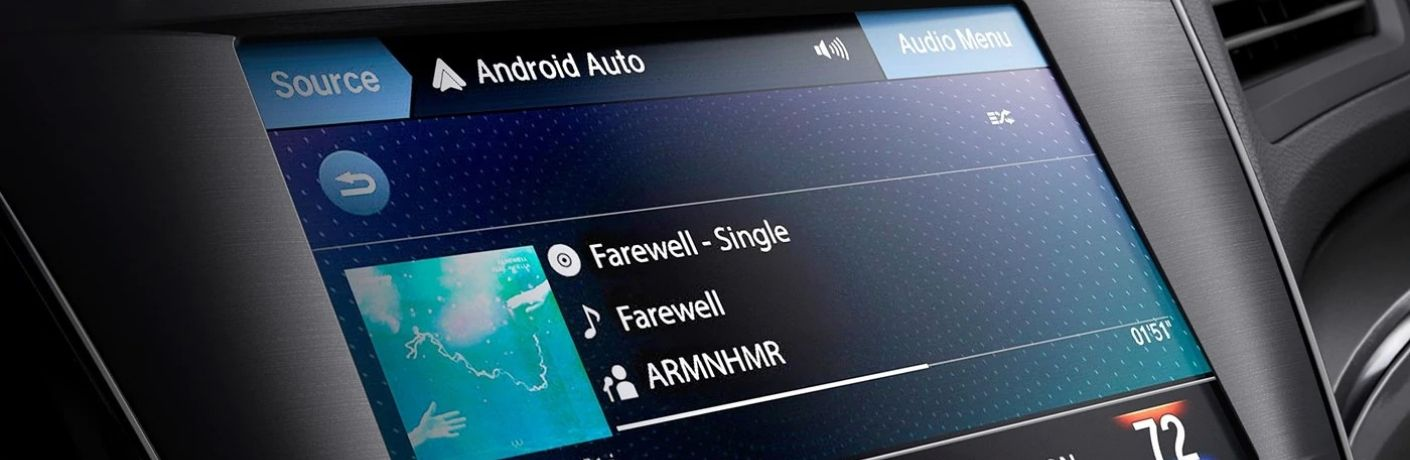 Closeup view of Android Auto™ inside an Acura vehicle