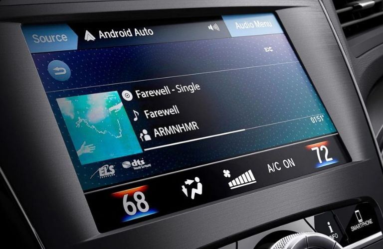 Interior view of Android Auto™ on the touchscreen inside a 2019 Acura ILX