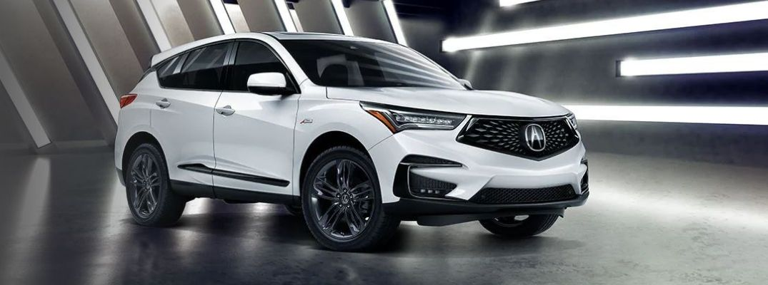 Exterior view of a white 2020 Acura RDX