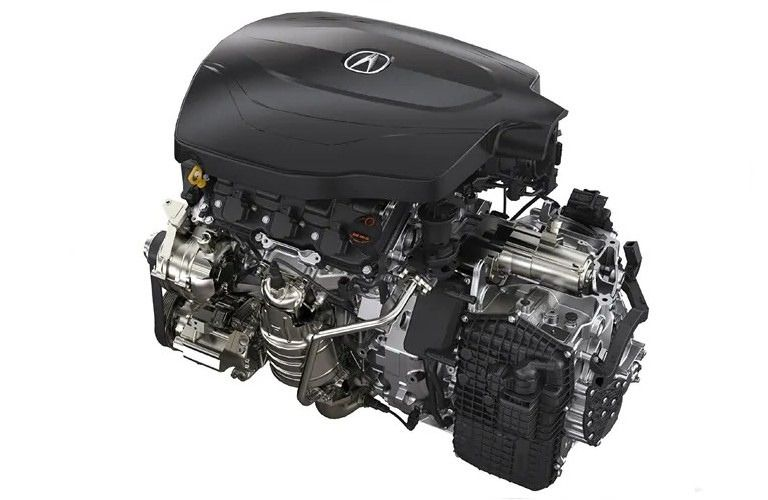 Image of the 2020 Acura TLX V6 engine
