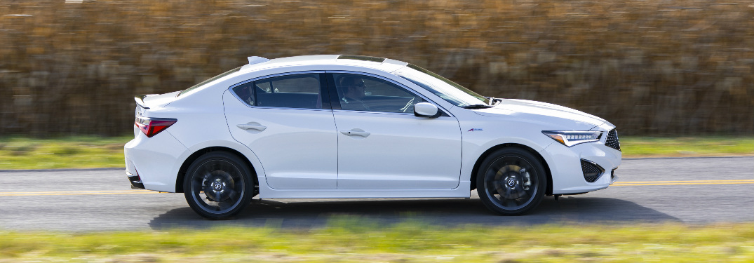 Side view of white 2020 Acura ILX