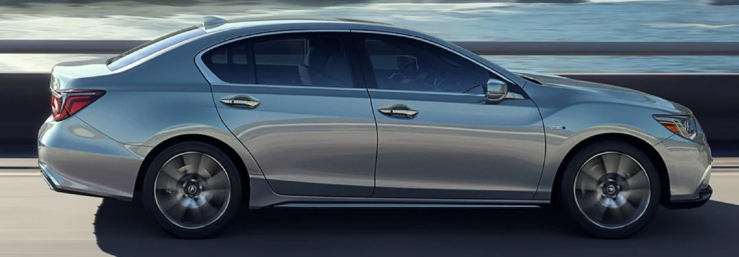 Side view of silver 2020 Acura RLX
