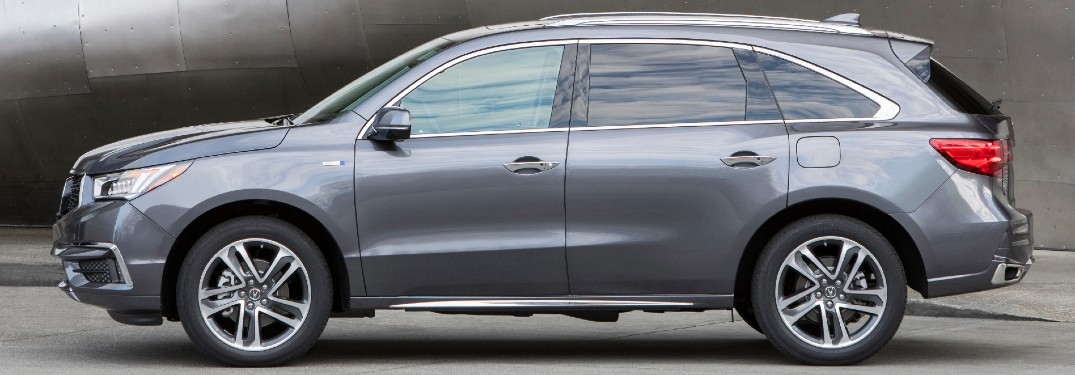 Side view of grey 2020 Acura MDX