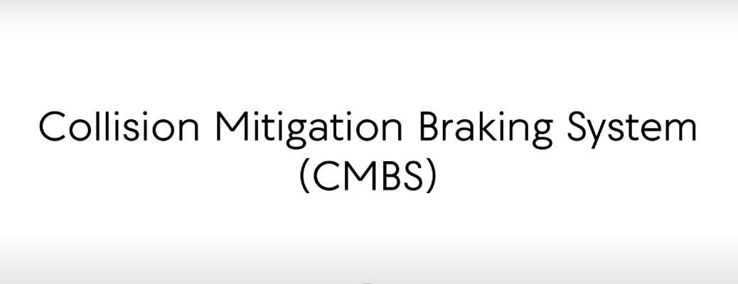 Collision Mitigation Braking System CMBS title