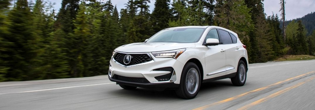 2019 Acura RDX driving on highway