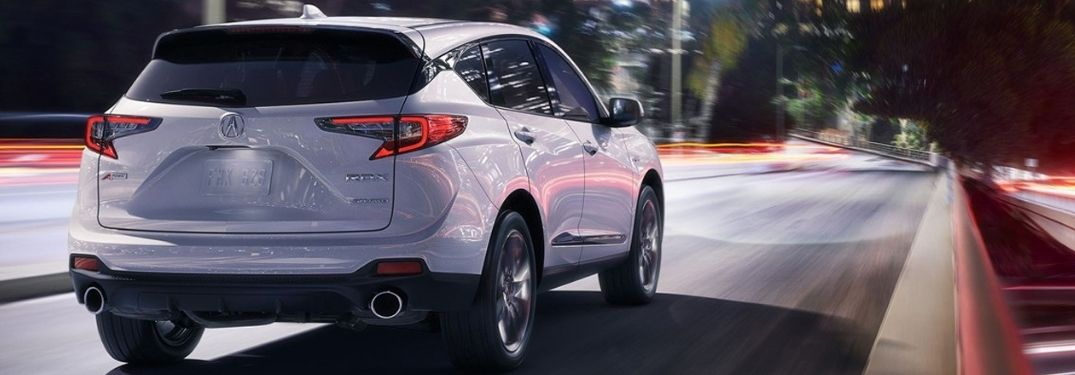 2019 Acura RDX driving on road at night