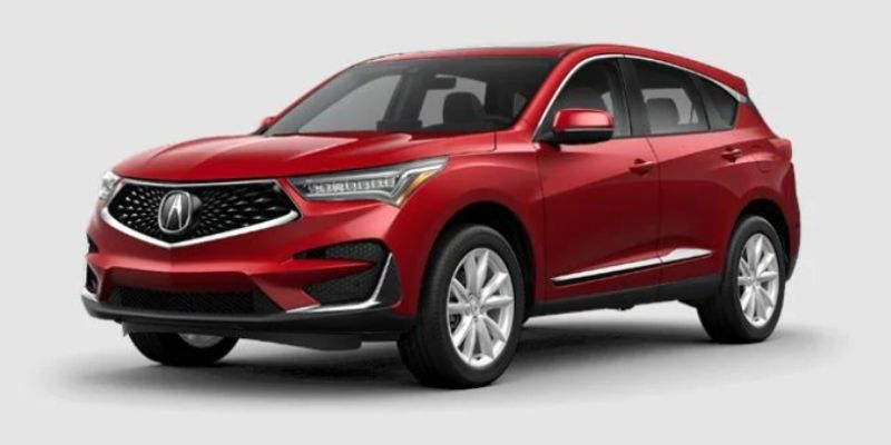 Performance Red Pearl 2021 Acura RDX on White Background