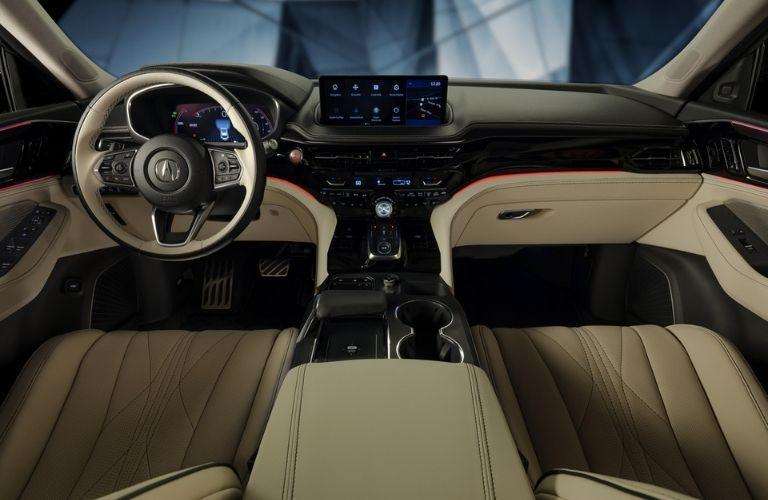 Acura MDX Prototype Steering Wheel, Dashboard and Touchscreen Display