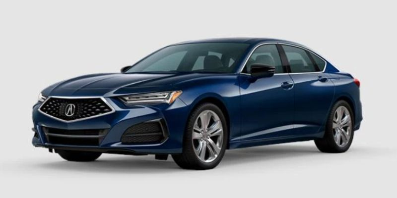 Fathom Blue Pearl 2021 Acura TLX on White Background