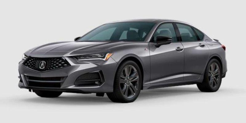 Modern Steel Metallic 2021 Acura TLX on White Background