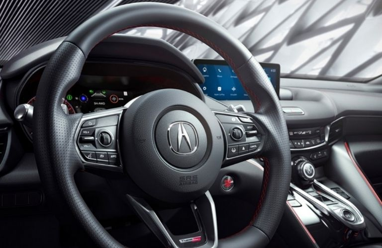 2021 Acura TLX Type S Steering Wheel and Dashboard