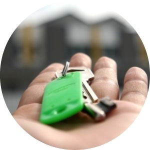 Close Up of a Hand Holding Car Keys